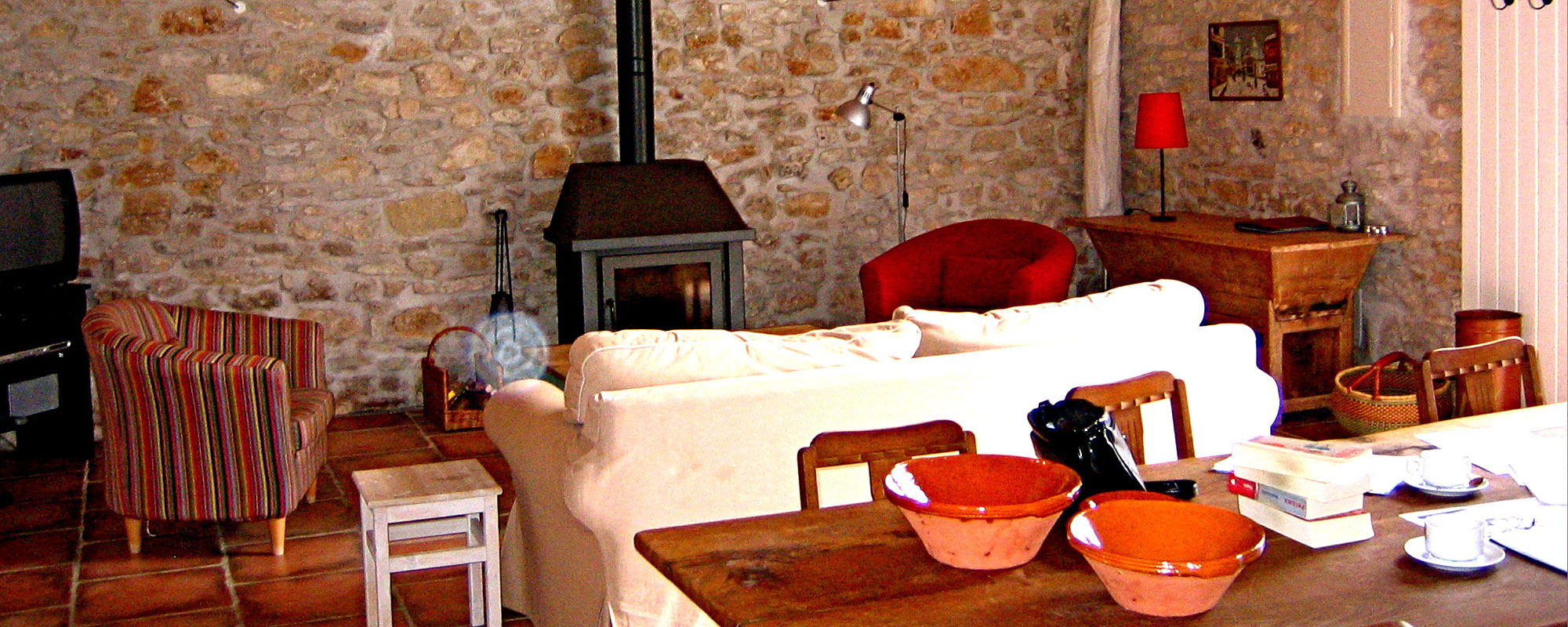 Self catering accommodation is French farmhouse style.